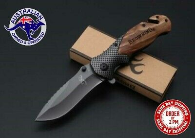 Browning Knife Folding Opening Pocket Knife (Hunting, Camping, Survival, Fishing