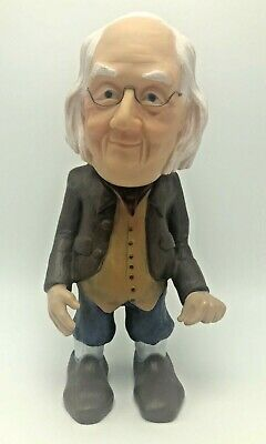 Benjamin Ben Franklin Vinyl Coin Bank Will Vinton Prods Claymation Model Laika