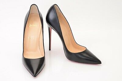 online store b3bbf 9f898 CHRISTIAN LOUBOUTIN SO Kate black 9 39 leather point toe stiletto shoe NEW  $725