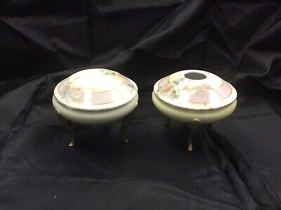 Royal Rudolstadt Bisque Footed Porcelain Hair Receiver and Powder Box