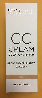 Seacret CC Cream Broad Spectrum SPF 15  Sunscreen Light 1.35 oz Exp 10/2019