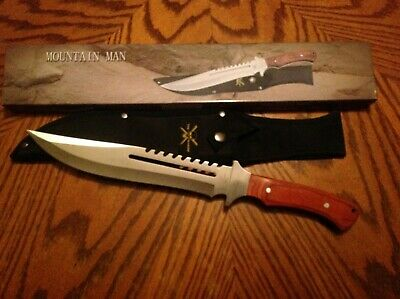 Tac Extreme Mountain Man Bowie knife, Survival, Sawback,15.5 inches Lanyard Hole