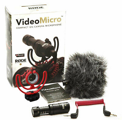 Rode Videomicro Compact Capacitor Directional Microphone Camera Microphone