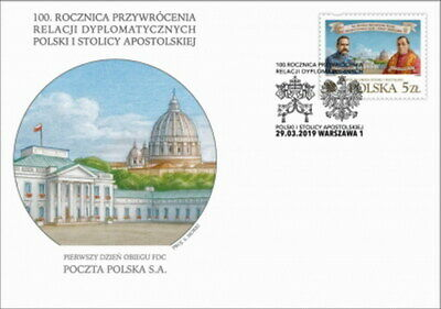 Polonia FDC 2019 anniversary of diplomatic relations between Poland - Vatican
