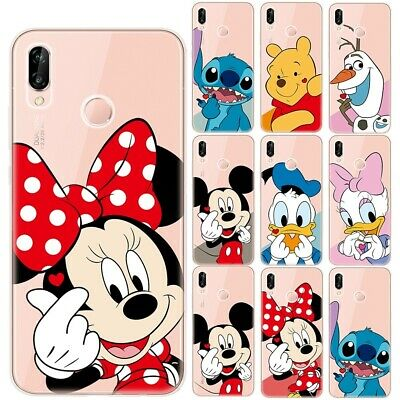 Disney Mickey Minnie Soft TPU Case Cover For Huawei P8 P9 P10 P20 P30 Lite