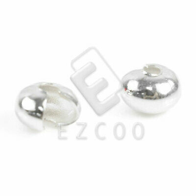 100pcs Crimp Cover End Beads Jewelry Findings Silver 6mm Wholesale EBCP0030-2
