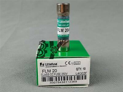 BOX LOT OF 10 LITTELFUSE FLM-12 TIME DELAY FUSES 250v