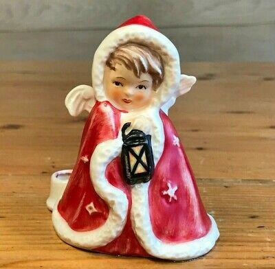 Goebel Christmas Fairy Red Candle Holder 1958 West Germany 42412-09