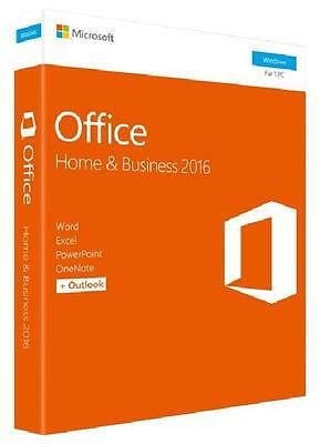 Microsoft SOFTWARE OFFICE HOME AND BUSINESS 2016 (T5D-02801) MEDIALESS (KEY CARD
