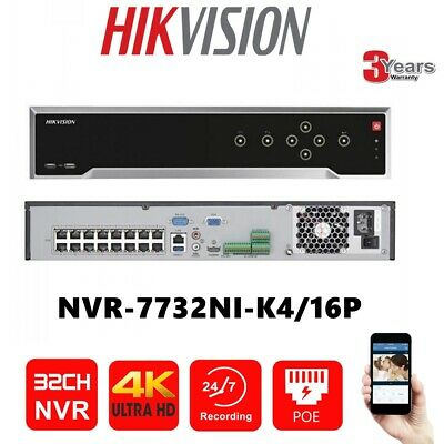 HIKVISION 32CH 16POE 4K DS-7732NI-K4/16P 4SATA IP NVR Network Video Recorder