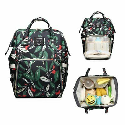 AU Waterproof Mummy Bag Diaper Nappy Large Capacity Changing Bag Travel Backpack