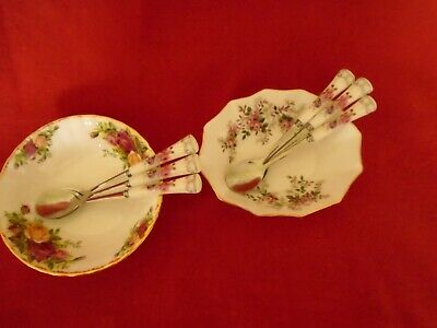 OLD Country Roses / Lavender rose ** INSPIRED SET OF 6 TEA / COFFEE SPOONS ****