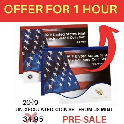 2019-PD 20-Coin Uncirculated From US MINT  Coin Set (19RJ) Presale