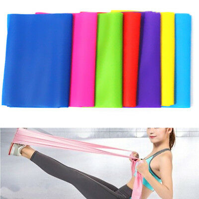 Rubber Resistance Bands Fitness Workout Elastic Training Band Rope Yoga PilateIJ