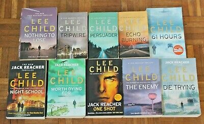 Lee Child  * The 'Jack Reacher' Series * Great Collection Of 10 Paperback Books