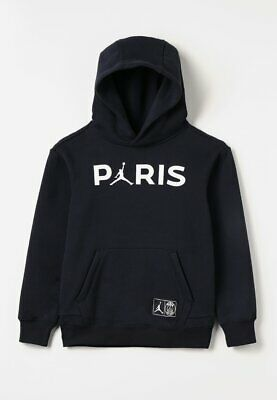9eb1066f92a Psg Nike Jordan Paris Saint-Germain Jumpman Pullover Hoodie Hoody Kids Sizes
