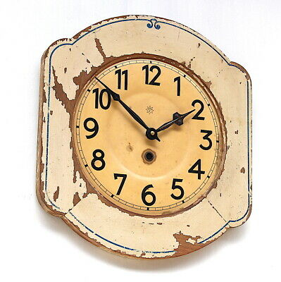 WEST GERMAN 1940s Decorative Midcentury Retro Vintage Wall Clock Dial