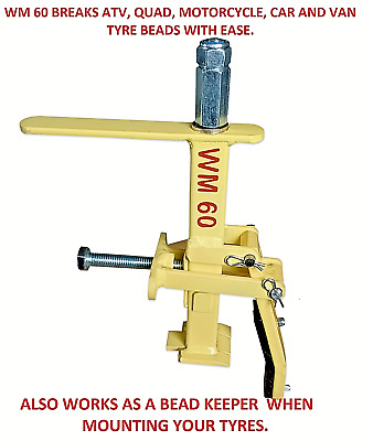 Wm60 Portable Tyre Bead Breaker,Free Stubborn Beads-Quads Cars Vans  Motorcycles