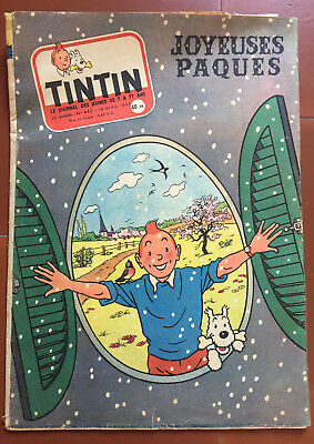 Magazine Tintin No. 443 Happy Easter 1957 Hergé