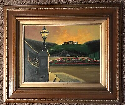 """Antique Oil Painting- Landscape-Listed French Artist Charles Cermak """"Gloriette"""""""