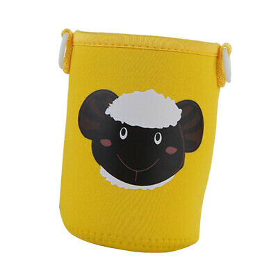 400-600ml Neoprene Bottle Sleeve Insulated Cover Bag with Strap Yellow Sheep