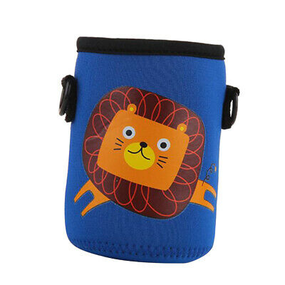 400-600ml Neoprene Bottle Sleeve Insulated Cover Bag with Strap Blue Lion