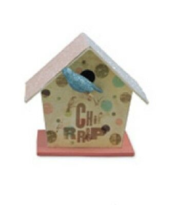 Bethany Lowe - Easter - Small Tweet Birdhouse Blue - TP0927