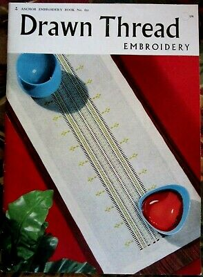 1977 Drawn Thread Embroidery Book #650 by Anchor 41 Pages Softback