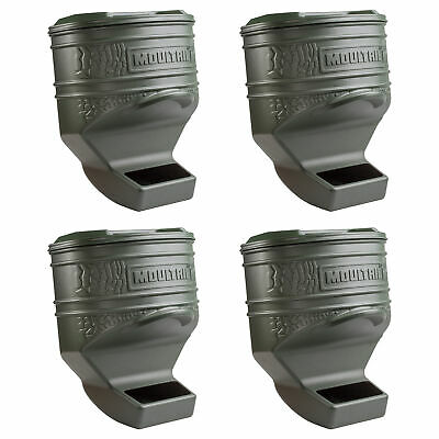 Moultrie 80 Pound Capacity Deer Wildlife Feed Station Pro, 4 Pack | MFG-13219