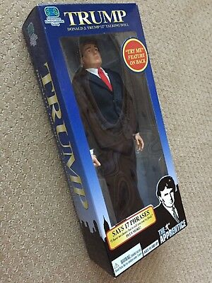 "Talking 12"" Donald Trump Doll 17 Phrases The Apprentice Funny Gift  NIB - SEALED"