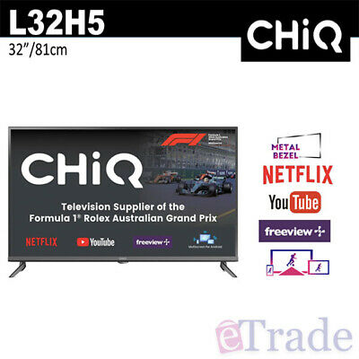 2019 - CHiQ 32'' Inch Smart HD LED TV WiFi Netflix PVR L32H5 - 5 Years Warranty