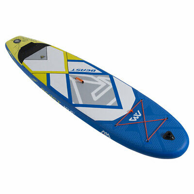 Aqua Marina Inflatable Beast 126 Inch Stand Up Paddleboard Set w/ Pump, Blue