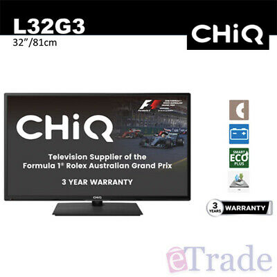 NEW CHiQ 32' Inch HD TV / DVD Combo 12V DC Caravan Compatible - 3 Year Warranty
