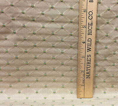 "HALIFAX DENIM BLUE #477 TAN EMBROIDERED DIAMOND DESIGNER FABRIC BY THE YARD 54/""W"