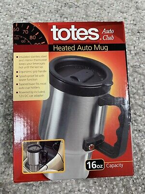 12-volt Portable Appliances Vehicle Electronics & Gps New Totes Heated Auto Mug 16oz With 12v Car Adaptor Stainless Steel With Lid