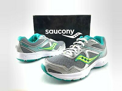 9373be32 SAUCONY KID'S COHESION 9 Sneaker Citron/Black SY55545 Brand New Wide ...