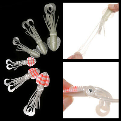 Soft Silicone Fishing Tackle Squid Skirt Lure Saltwater Octopus Bait long tail