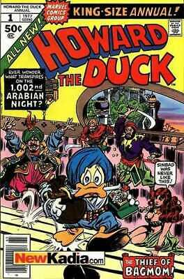 Howard the Duck (1976 series) Annual #1 in VF minus cond. Marvel comics [*br]
