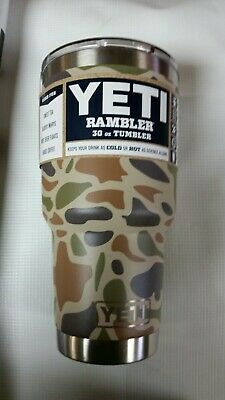 YETI Rambler 30oz Tumbler w/ms lid  Camouflage Color- Brand New!