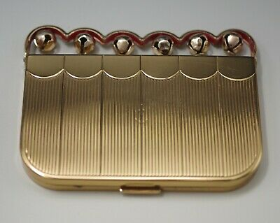 Vintage Coty Ny Jingle Bells Compact With Applicators