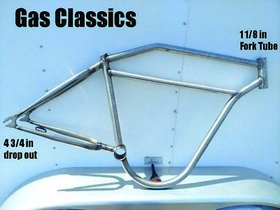 Board Track Racer 2 inch  Bicycle Frame and Tank , raw steel