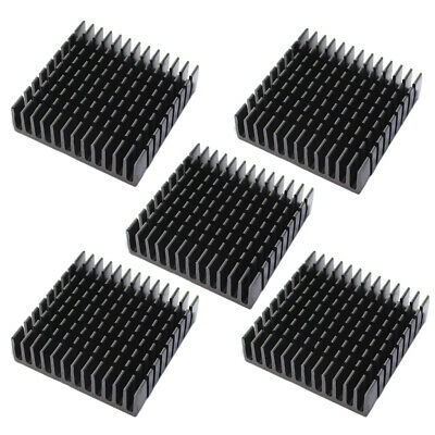 AU 5Pcs Heat Sink Aluminum Heatsink Thermal Cooling Fin Blade CPU IC 40x40x11mm