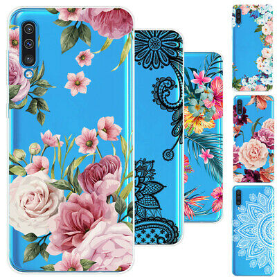 Soft Silicone Clear Painted Case Cover For Samsung Galaxy A70 A50 M30 M20 S10 +