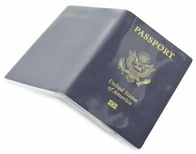 Passport Cover Clear Plastic Vinyl ID Card Protector Case Pack of 5