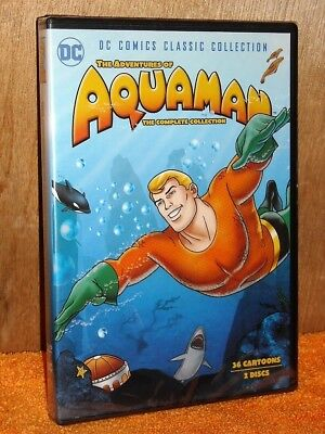 The Adventures of Aquaman Complete Collection (DVD, 2018, 2-Disc) NE animated DC