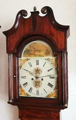 An early Victorian Oak & Mahogany Longcase Grandfather Clock C1850
