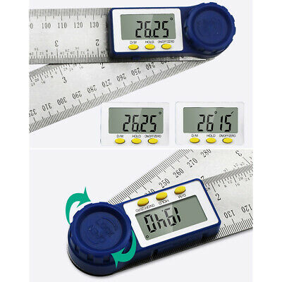 Stainless Steel Digital Protractor Goniometer Gauge Angle Finder Ruler Accurate