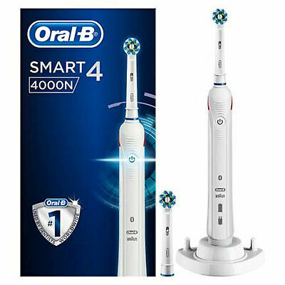 Oral-B Smart Series 4000 CrossAction Electric Toothbrush White