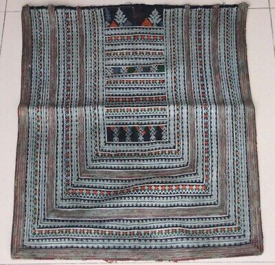 Tribal exotic chinese ethnic yao people's old hand costume embroidery