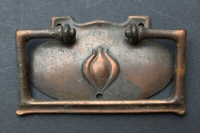 Art Nouveau Drawer Pull Handle old vintage chest reclaimed antique knob crafts